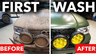 First Wash Audi RS4 Avant SAFARI after Matt Farah Filthy Muddy Off-Road Rally