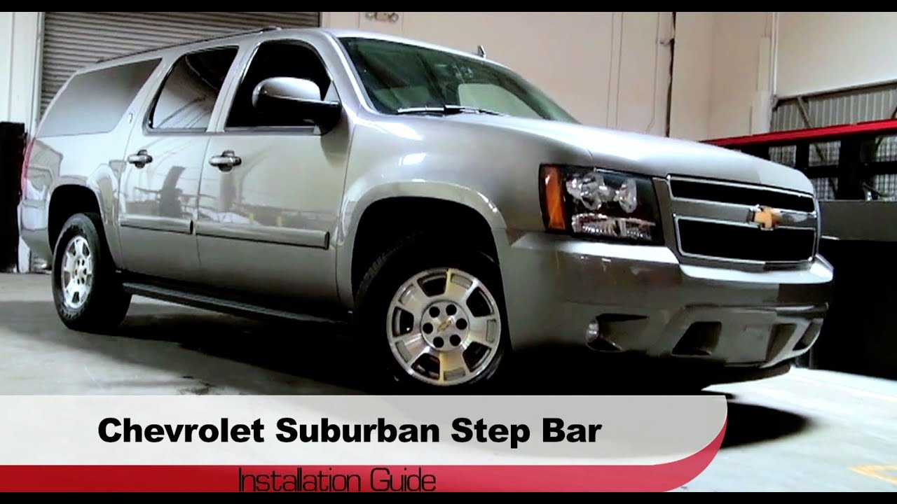 Spyder Auto Installation: 2000-13 Chevrolet Suburban/Avalanche/GMC Yukon 1/2 TON Step Bars - YouTube