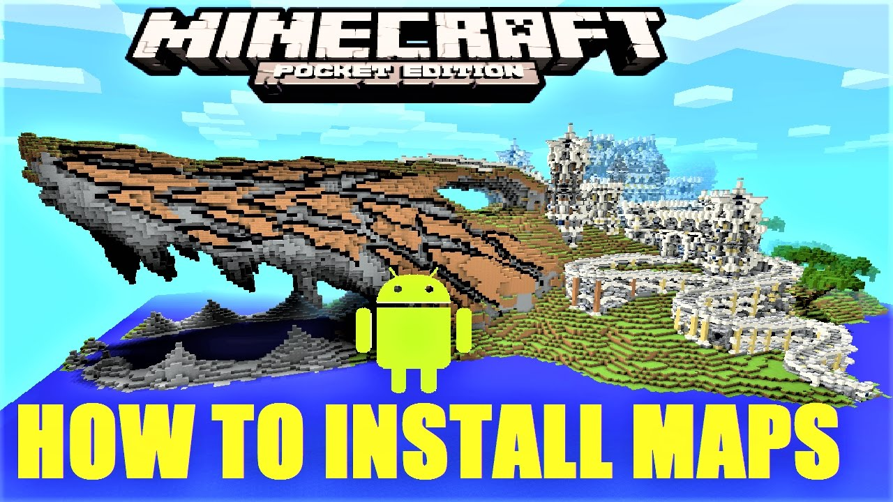 Minecraft PE How To Install Maps On Android MCPE - Minecraft maps fur android