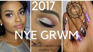 NYE GRWM 3 in 1... hair + makeup + nails
