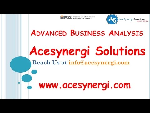 Business Analyst Training Online : Advanced Business Analysis Course