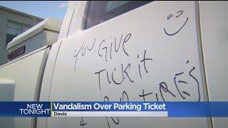 UC Davis Truck Vandalized Over Parking Ticket