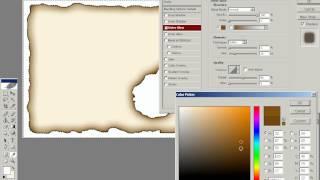 Photoshop урок 23  Жженая бумага и текст по кривой