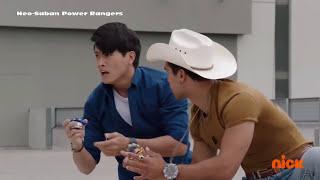 Power Rangers vs Deceptron. The Power Rangers morph into action and...