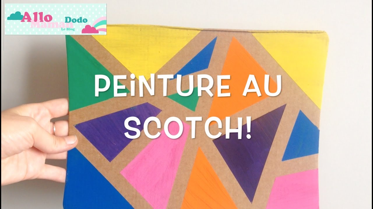 diy enfants la peinture au scotch activit facile et. Black Bedroom Furniture Sets. Home Design Ideas