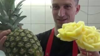 Мастер-класс | Роза из ананаса | Видео урок