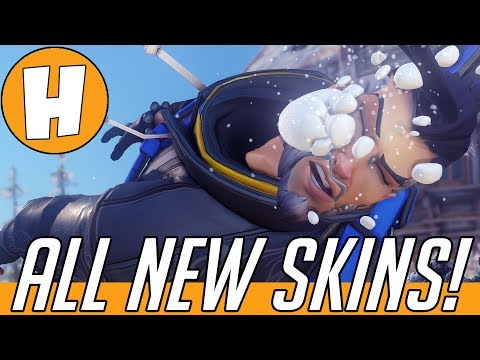 Overwatch - ALL Winter Wonderland 2017 Skins + Cosmetics! (Skins, Intros & More) | Hammeh