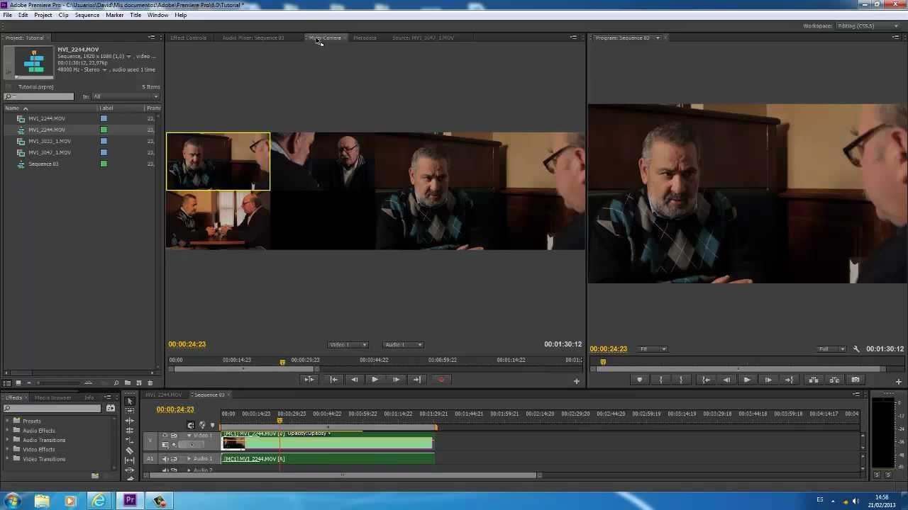 Tutorial Adobe Premiere Pro CS6 - Multicamara - Edición de ...