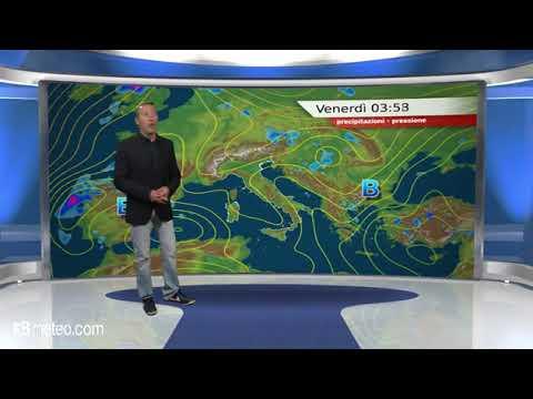 Previsioni meteo Video per venerdi, 25 maggio