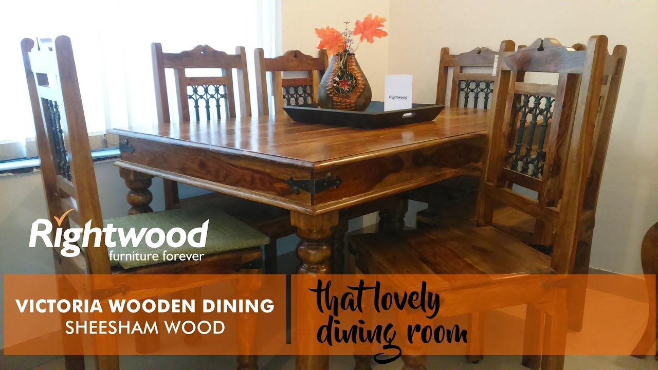 Wooden Dining Table Design Victoria Six Seater By Rightwood Furniture