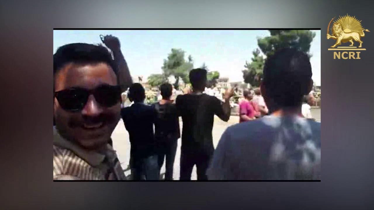 Protests against the mullahs' regime in Arak (central Iran) on August 2