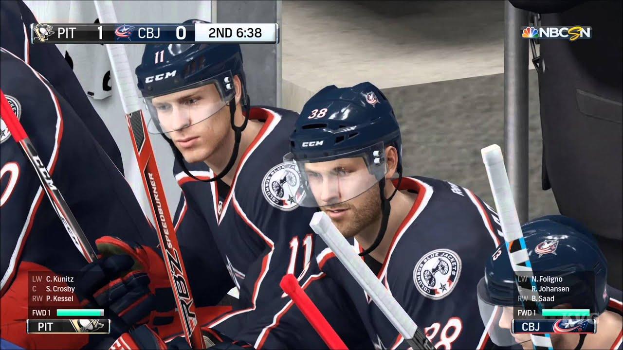 NHL 16 - Pittsburgh Penguins vs Columbus Blue Jackets Gameplay
