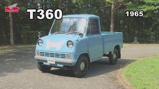 50年前に発売されたホンダの軽トラ「T360」の走行テスト。レトロなデザインが今見ると超おしゃれ!