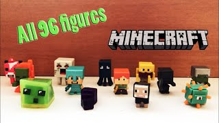 Minecraft minifigures All 96 figures. 3-pack series + chest series (1-6 series)