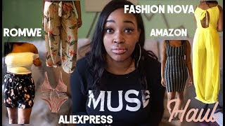 AFFORDABLE VACATION TRY-ON HAUL [Fashion Nova, AliExpress, Amazon, Romwe]