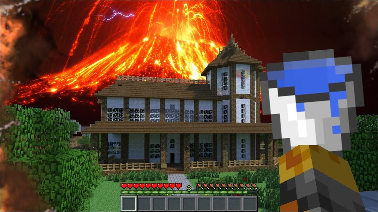 Mc Naveed Spawns A Giant Volcano In House Survival For Zombie