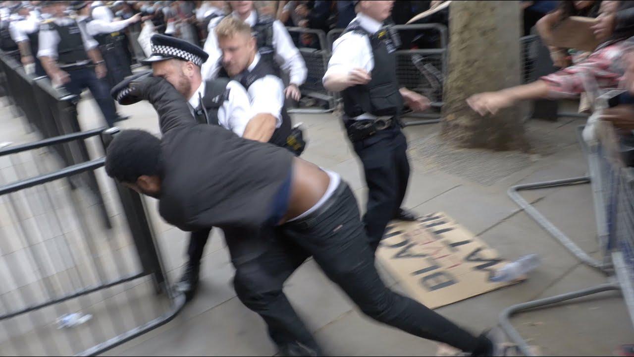 'Black Lives Matter' protest descends into violence in London