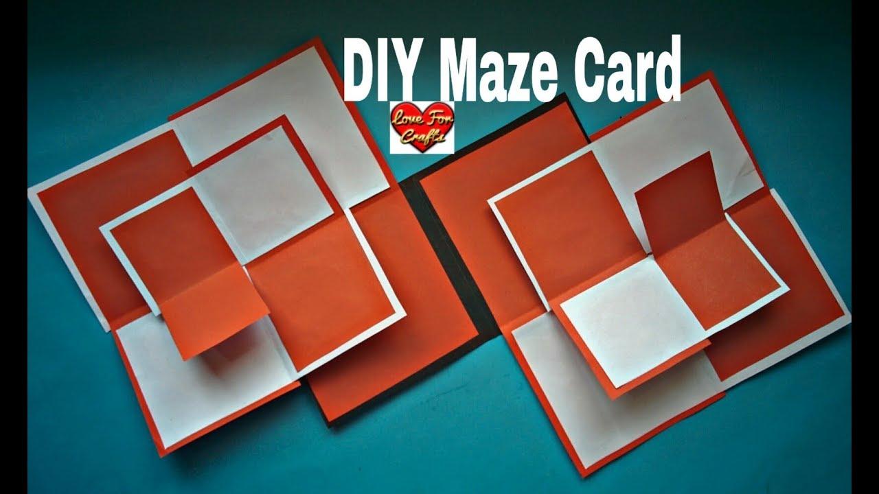 Double Maze Card Tutorial | DIY - Wedding Anniversary Gift Idea ...