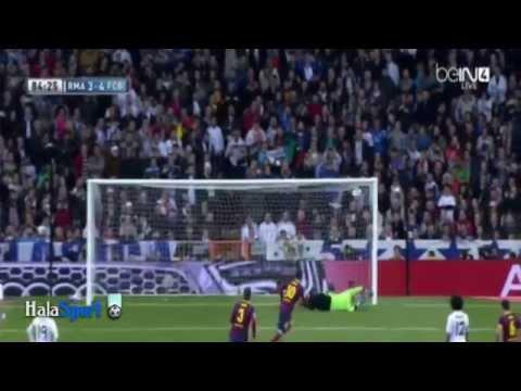 اهداف مباراة برشلونة و ريال مدريد 6-4 تعليق عصام الشوالي و فهد العتيبي 2014