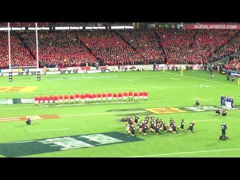 All Blacks haka VS British and Irish Lions. First test 2017