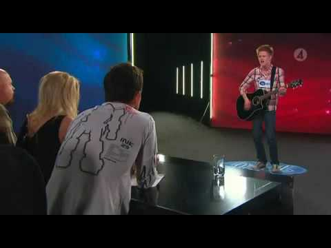 Erik Grönwall 18 and Life SKID ROW Idol 2009 Sista Chansen audition Stockholm Sweden 2 låtar