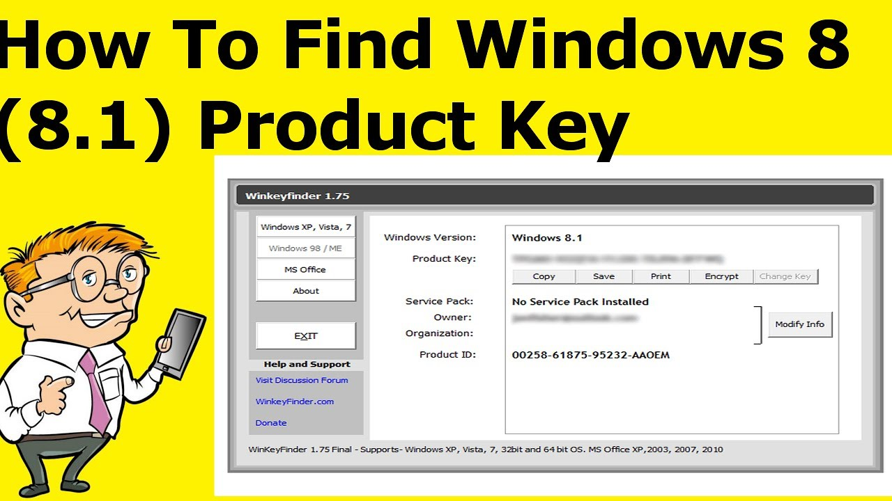 find windows 8 key