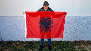 Albanians Drawing the Albanian Flag