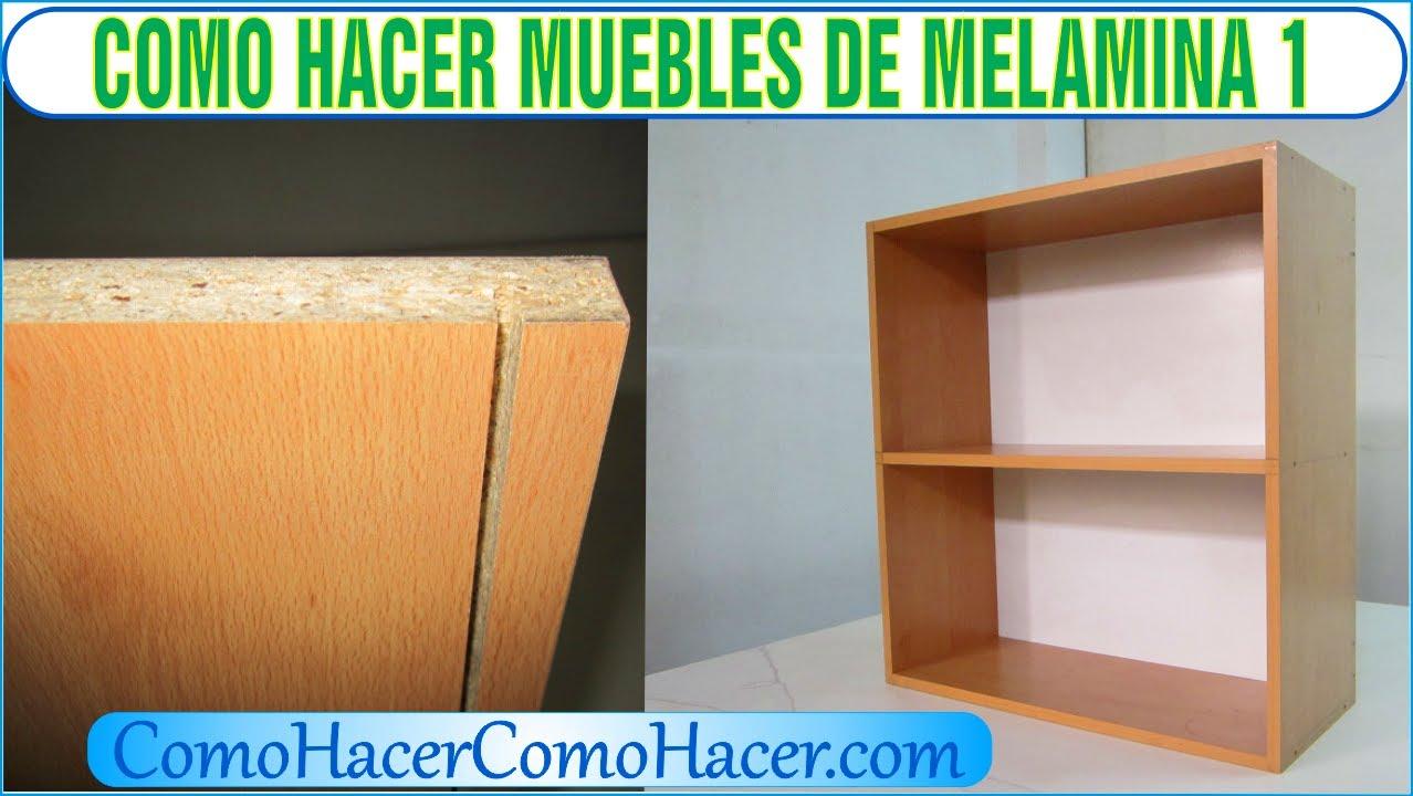 Bricolaje como hacer muebles laminados de melamina 1 youtube for Muebles de cocina planos pdf