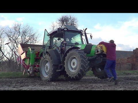 Sadzenie Ziemniaków 2017 Deutz-Fahr Agrofarm 420 + Unia Kora 4h 