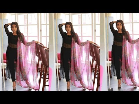 Stylish Casual Black Salwar Kameez Suits Designs Ideas||Trendy Casual Black  Dresses For Girls