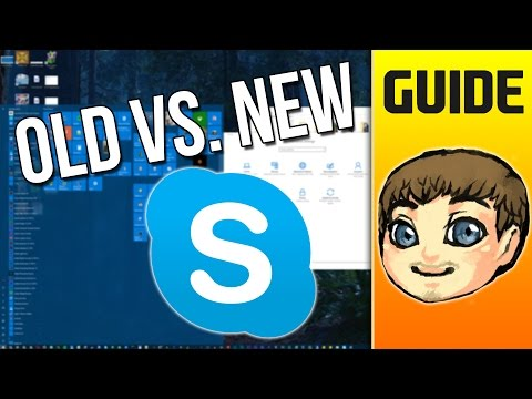 NEW SKYPE vs. OLD SKYPE // Windows 10 Anniversary Update // Skype Preview