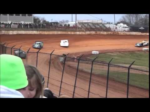 Super Late Model Heat #2 from 411 Motor Speedway 1/1/15.