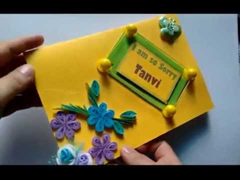 Quilled flower sorry greeting card youtube m4hsunfo