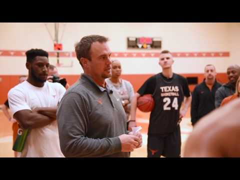 Texas Basketball: Coach Tom Herman Visits Team Before Sweet Sixteen [March 23, 2017]