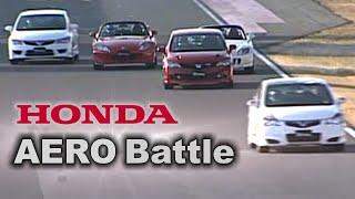 [ENG CC] Honda Aero battle - Mugen Civic FD2 RR, Modulo FD2, S2000 Type S Tsukuba 2008
