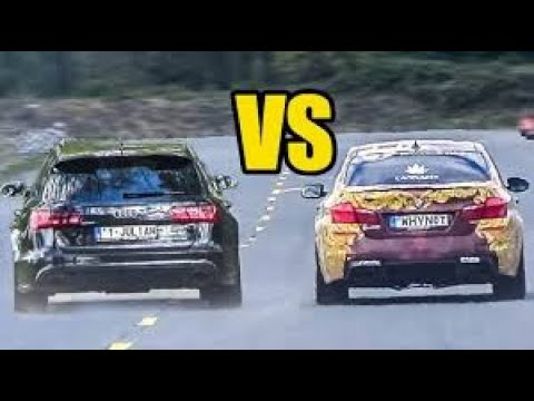 Audi #R8 V10 Plus (610hp) Vs BMW #M5 F10 (560hp) 0-330 Km/h Acceleration Top Speed