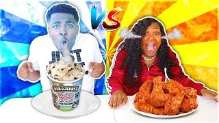 HOT VS COLD FOOD CHALLENGE!