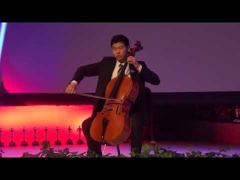 Ellis playing the National Anthem at Senior Awards 2018