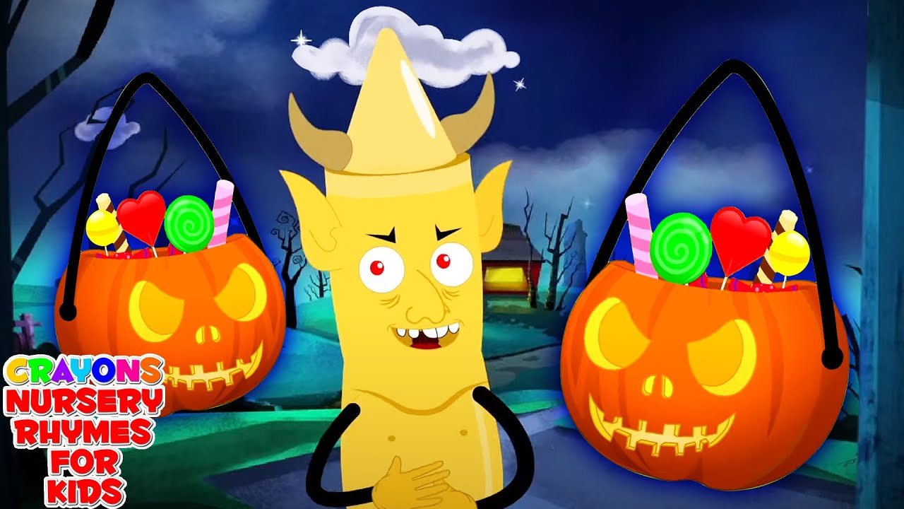 Knock Knock Trick Or Treat | Halloween Song For Kids | Spooky Nursery Rhymes for Children