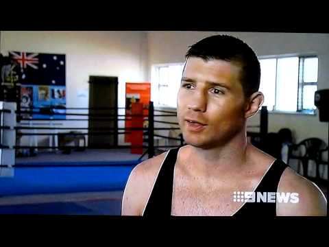 Channel 9 News & Sports interview with World Champion boxer Daniel 'The Rock' Dawson