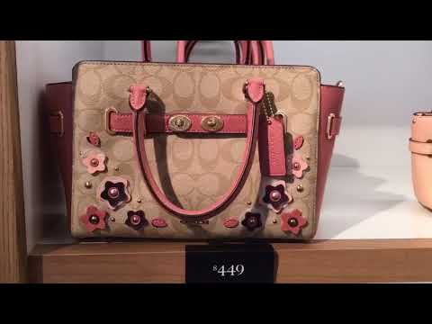 Coach outlet store walk-through part one