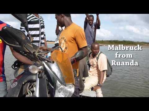 Entering Mozambique at Rovuma river
