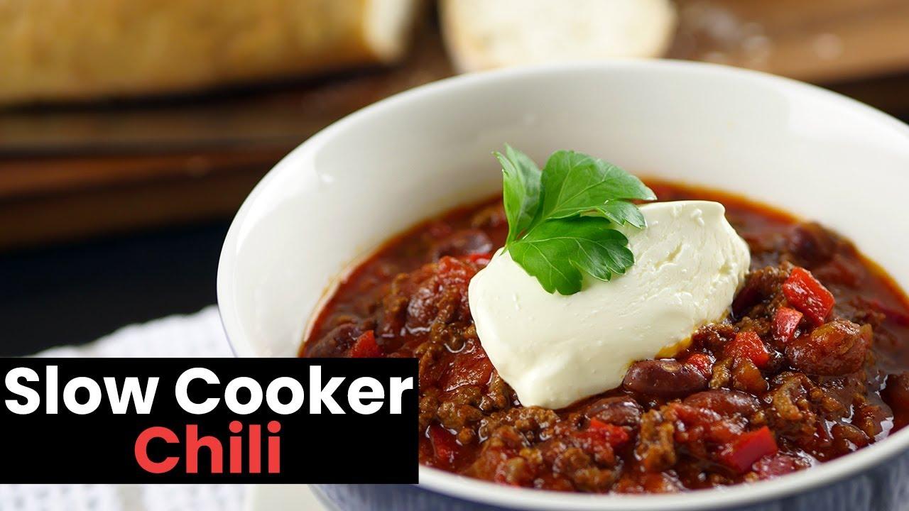 Chili con carne crockpot