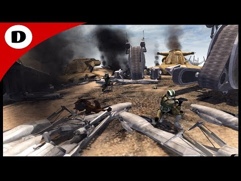 HUGE CLONE vs DROID TANK ENGAGEMENT - Men of War: Star Wars Mod  