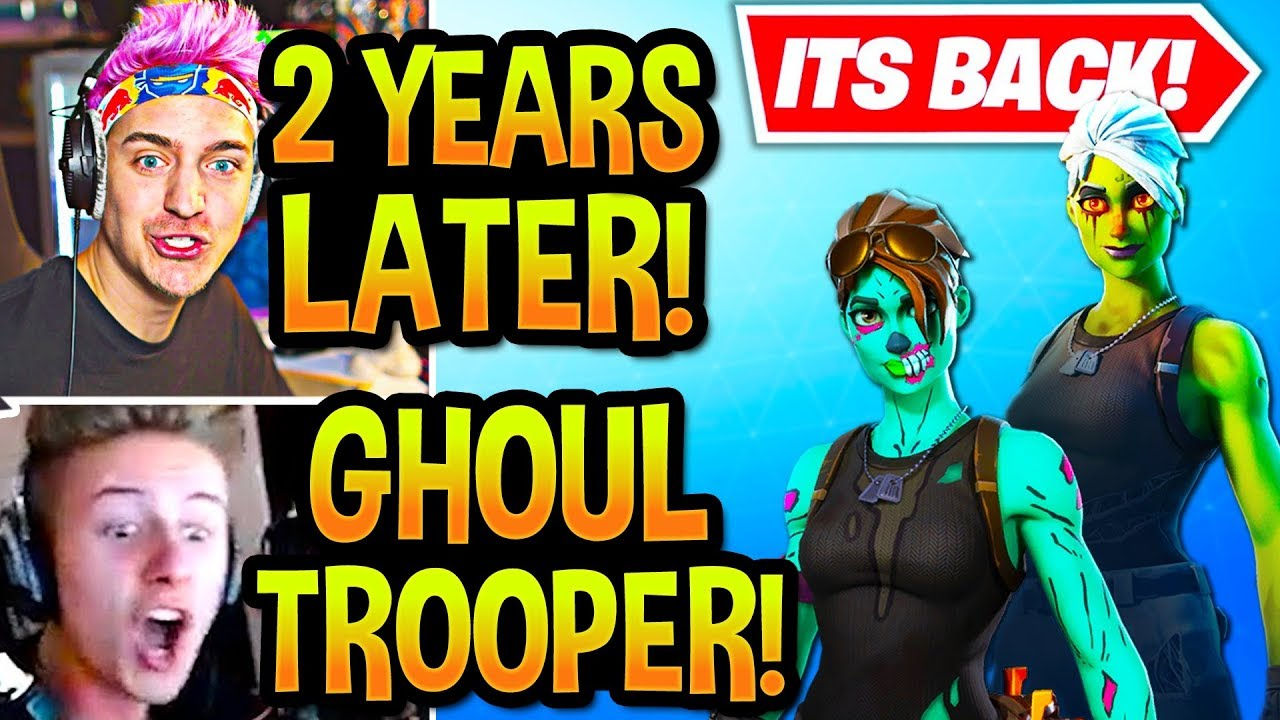 STREAMERS BUY GHOUL TROOPER + NEW STYLE! (2 YEARS LATER!) Fortnite thumbnail