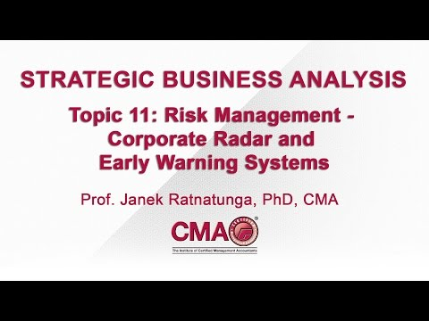 STRATEGIC BUSINESS ANALYSIS - Topic 11 - Risk Management