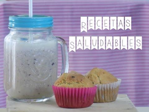 Muffins saludables y batido de almendras 'Postres para diabéticos'