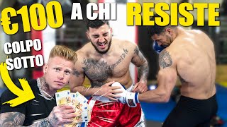 REGALO 100 EURO a chi resiste a più COLPI SOTTO! | *FIGHTERS PROFESSIONISTI*