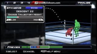 AJ Styles Spiral Oluşturma 11 WWE SVR Dokunun