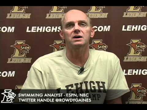 U.S. Olympic Hall of Fame Swimmer Rowdy Gaines contributes to the Lehigh tradition